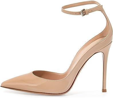 Chaussure Talon Aiguilles Lanières Suède Sandales Nude
