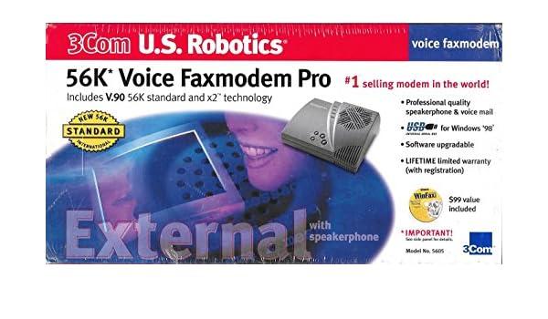 Amazon 3Com US Robotics 56K 144K V90 Voice USB Fax Modem Electronics