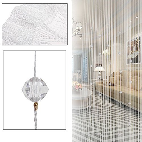 Romatic String Curtain With Beads Decor Tassels Fly Insect Door Screen Divider Window(only 1 Piece/lot) YingYing Supplies