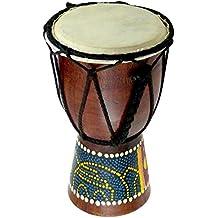 "6"" Wooden Djembe Doumbek Darbuka Hand Drum Egyptian Design - Pattern May Vary"