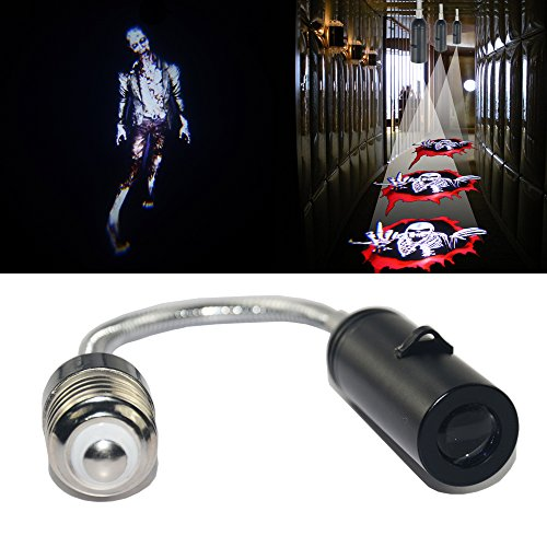 SHE'O® 3D Walking dead Zombie Night Ceiling wall floor E26 LED laser projector logo shadow ghost light Cree led spot light bulb atmosphere decorative light lamp 100~240v for Home House Bar Restaurant hotel store -