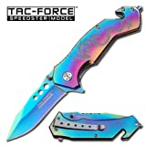 AO TITANIUM RAINBOW DRAGON RESCUE KNIFE, Outdoor Stuffs