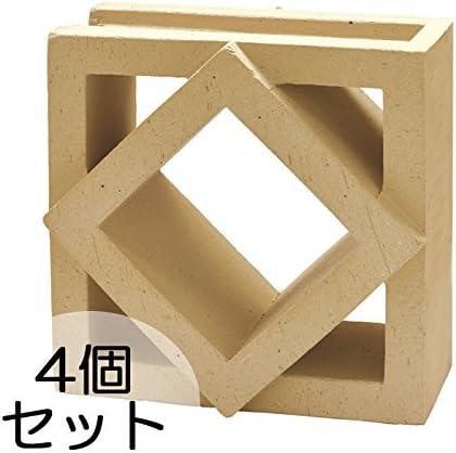 ブロック せっき質無釉ブロック ポーラスブロック200コーナー 190Bタイプ ハニワ(配筋溝あり・1面フラット) 4個セット単位 屋外壁