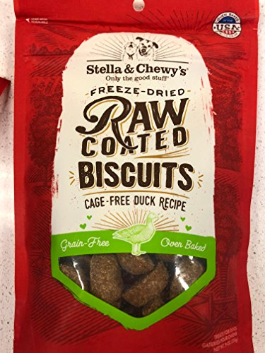 Stella and Chewy's Raw Coated Biscuits Duck 9 Ounces