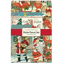 Cavallini 12-Pack Petite Vintage Christmas Parcel Set