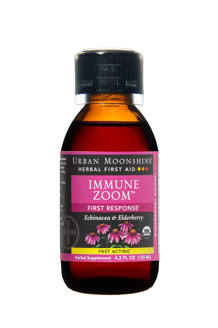 Urban Moonshine Immune Zoom | Herbal First Aid Supplement with Echinacea & Elderberry | Fast-Acting First Response | 4.2 FL OZ (Pack of 1)