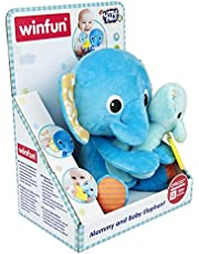 Winfun Mommy and Baby Elephant Soft Toy for Kids