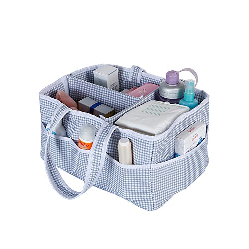 Sammid Foldable Diapers Organizer,Baby Diaper Caddy Nursery Basket,Nursery Storage Bag for Diapers and Baby Wipes by Sammid