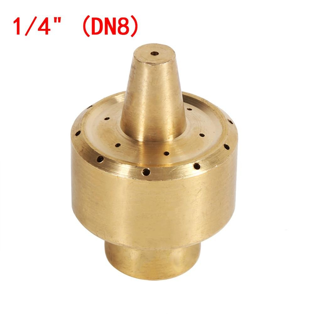 Brass Column Style Fountain Nozzle Garden Sprinklers Pond Fountain Water Nozzle Sprinkler Spray Head Gold Fireworks Water DN8