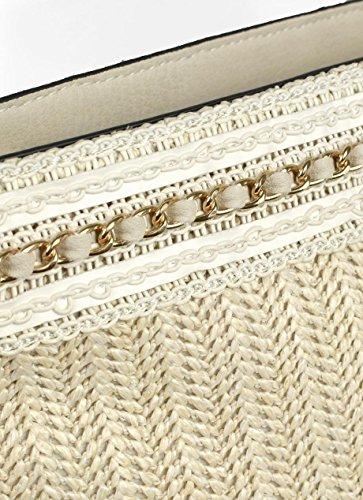 Tracolla Decorativa Striscia Bianco Bianco Tracolla Striscia Con Con Decorativa Tracolla rfRrzqCw