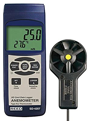 Ree Digital Thermo-Anemometer with Vane Probe and Data Logger