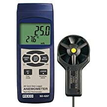 Reed Instruments SD-4207-NIST Thermo-Anemometer/Data Logger with NIST Traceable Certificate, Air Velocity Range: 0.4 to 30.0 m/s