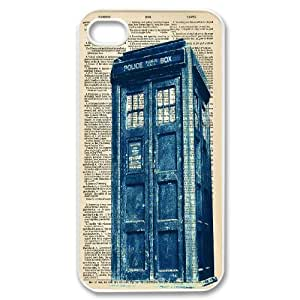 New Tardis Doctor Who Police Box Hard Plastic phone Case Cover+Free keys stand For Iphone 4 4S case cover XFZ433497