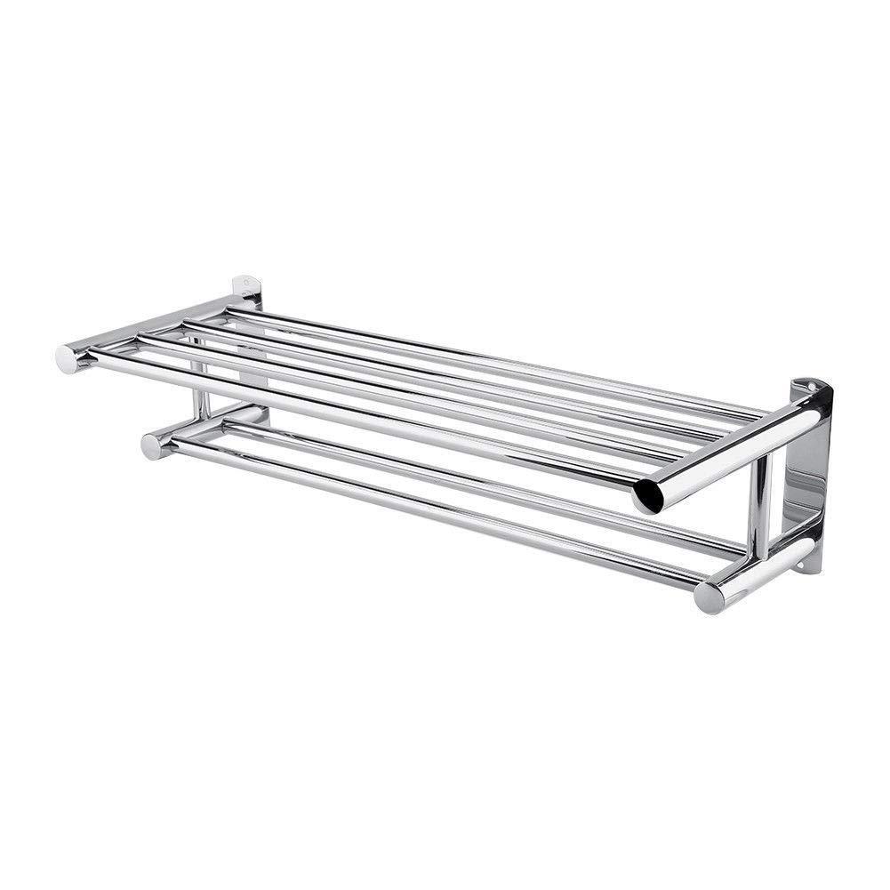 New Modern Stainless Steel Wall Mounted Towel Rack Bars Shelf Bathroom Shower Hotel Rail Holder Storage Organizer Home Hotel