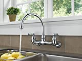 Peerless P299305LF Choice Two Handle Wall Mounted Kitchen Faucet, Chrome