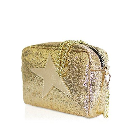 femme x W Gold Star 8x13x18 Besaces Bandolera Shop H cm Or Starlite Starlite L dorado RfxaYwWq7