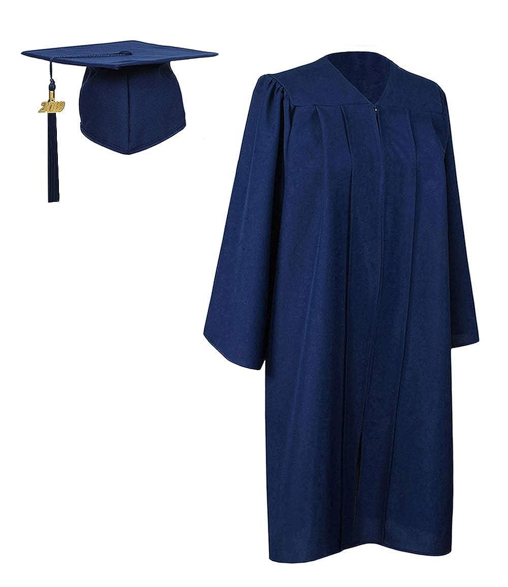 GraduationForYou - Traje y borla de graduación, mate - Azul ...