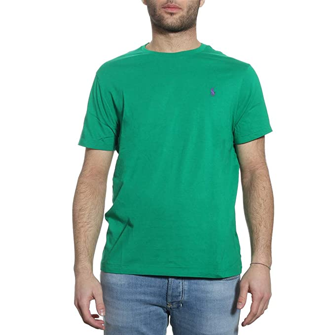 Mezza In Manica Ralph Lauren T Shirt it CotoneUomoAmazon P8OXwkn0