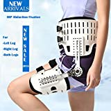 Hip Abduction Fixtion Orthosis For Dislocation of Hip Joint Leg Injury Hip Replacement Lower Limbs Extremity Paralysis Fixed (Both Sides, S)