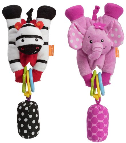 Infantino Wrap Around Chiming Pal-Elep. /Zebra