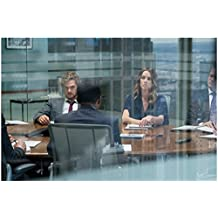 Finn Jones 8inch x 10inch PHOTOGRAPH Iron Fist (TV Series 2017 - ) Seated at Table w/Jessica Stroup kn