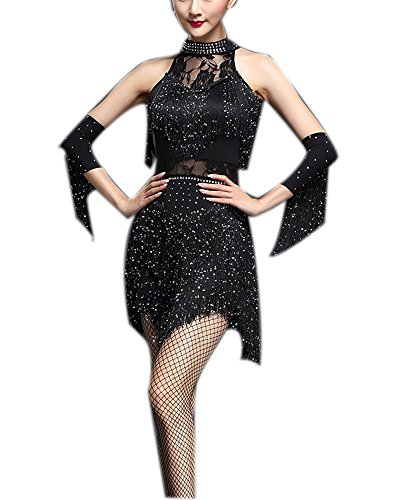 Theater Casino Halloween Jazz Dance Performance Fancy Party Costume Dress Outfit]()