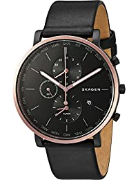 Men's SKW6300 Hagen Black Leather Watch