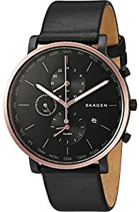 Skagen Men's SKW6300 Hagen Black Leather Watch