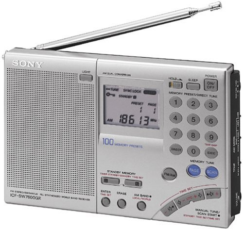 Sony ICF-SW7600GR AM/FM Shortwave World Band Receiver with Single Side Band Reception by Sony