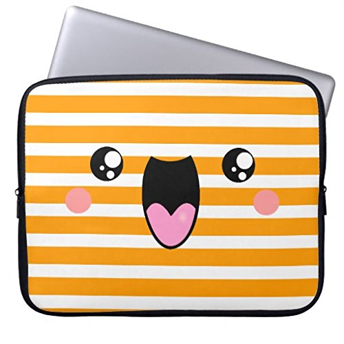 Kawaii Face Laptop Sleeve Pick A Colour Laptop Sleeve 12 Inc