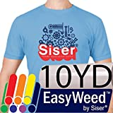 SISER EasyWeed Heat Transfer Vinyl (Heat Press / Iron on) 15'' x 10yd - White