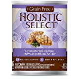 Holistic Select Grain Free Chicken Can Dog Food, Large