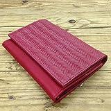 red leather wallet for women Handmade Clutch Card Holder Organizer Ladies Purse billfold checkbook