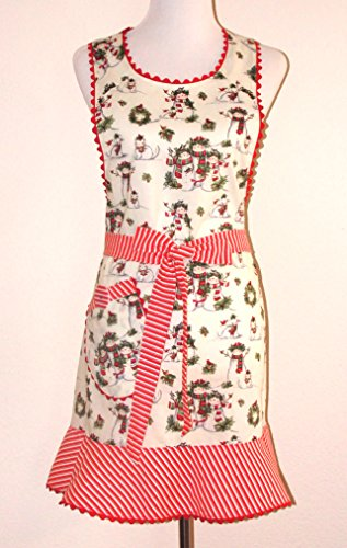Apron Handmade Christmas Holiday Snow Angel Size Lrg. Ready to ship