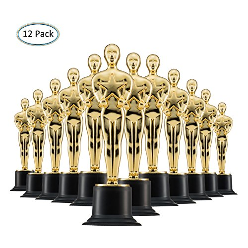 Prextex Gold 6'' Award Trophies (12 Pack) for Ceremonies or Parties -