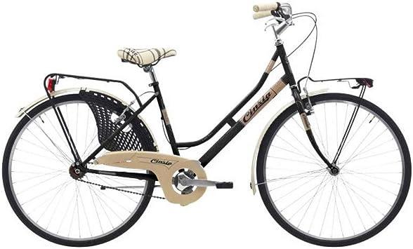 Motodak City Bike 26 Cinzia Friendly - Bicicleta de montaña para Mujer, Talla 44, Color Negro: Amazon.es: Deportes y aire libre