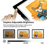 Huion A4 LED Light Pad Tracing Light Box Adjustable Brightness AC Powered - 12.2x8.3 Inch