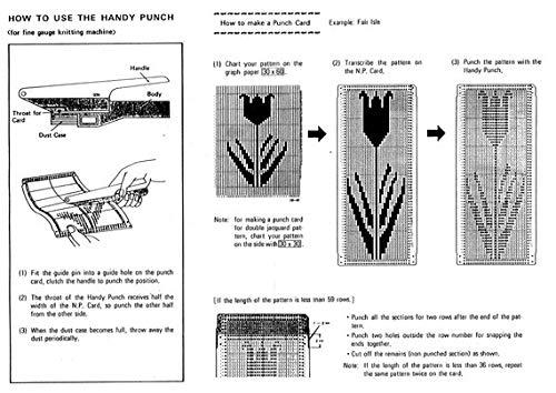 Singer Silver Reed PM3F Handy Punch Knitting Machine SK270.SK272.SK370.SK670.SA7P