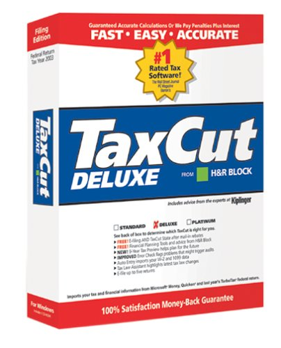 Software : TaxCut Deluxe 2003