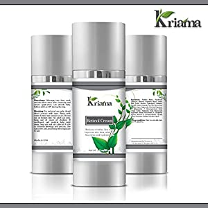 Kriama 2.5% Retinol Cream for Face & Eyes with Hyaluronic Acid, Collagen, Vitamin E - Medical-Strength Anti-Aging Cream - Reverses Wrinkles, Crow's Feet, Under-Eye Bags with Regular Use - 2OZ