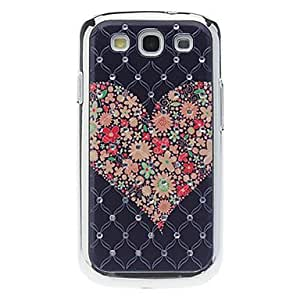 LZX Colorful Heart Pattern Hard Case with Rhinestone for Samsung Galaxy S3 I9300
