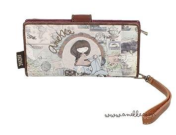 Sany Bags S.L. Anekke Wallet Cartera para Pasaporte, 20 cm, Beige: Amazon.es: Equipaje