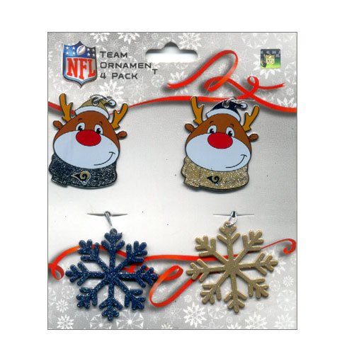 St. Louis Rams Forever Collectibles NFL Team Ornament 4 Pack