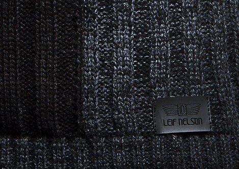 LEIF NELSON Herren Strickpullover Pullover Sweatshirt LN5500; Größe S, Anthrazit-Schwarz