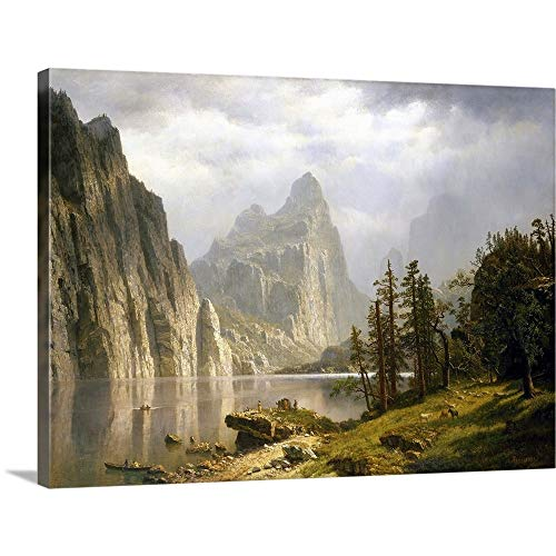 GREATBIGCANVAS Gallery-Wrapped Canvas Entitled Merced River, Yosemite Valley by Albert (1830-1902) Bierstadt 36