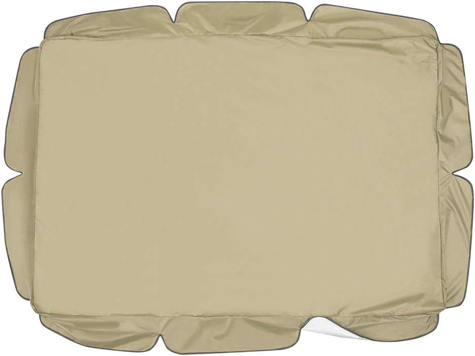 colore: sabbia 3 posti con rivestimento di ricambio UV con rivestimento universale per dondolo Hollywood Iraza Dondolo di ricambio per poltrona a dondolo da giardino
