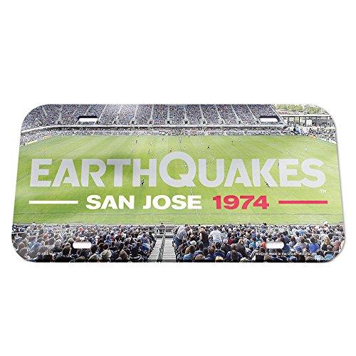 (MLS San Jose Earthquakes Stadium Crystal Mirror License Plate, 6 x 12-Inch)