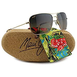 Maui Jim MJ-246-16 Wiki Wiki Sunglasses Gold w/ HCL Bronze HS246-16 59mm Authentic + Maui Jim Care-Kit