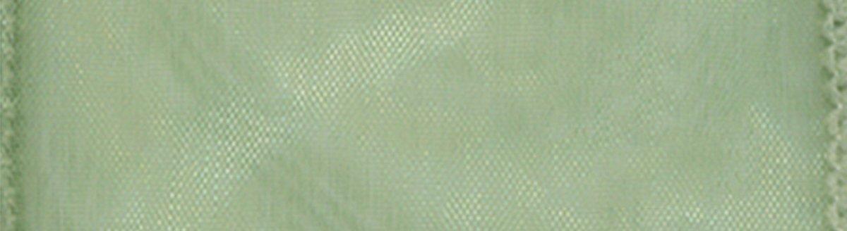 Morex Ribbon Wired 1-Inch Chiffon Ribbon with 25-Yard Spool Red