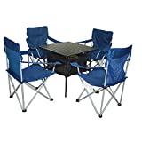 XD-Outdoor portable folding table and chairs set five-piece combo aluminum leisure table , table 70*70*70 chair 48*48*91